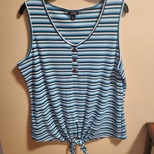 a.n.a. tank top with front tie
